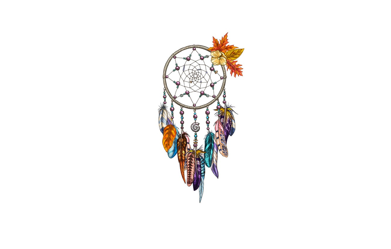 Photo wallpaper feathers, Dreamcatcher, Dreamcatcher