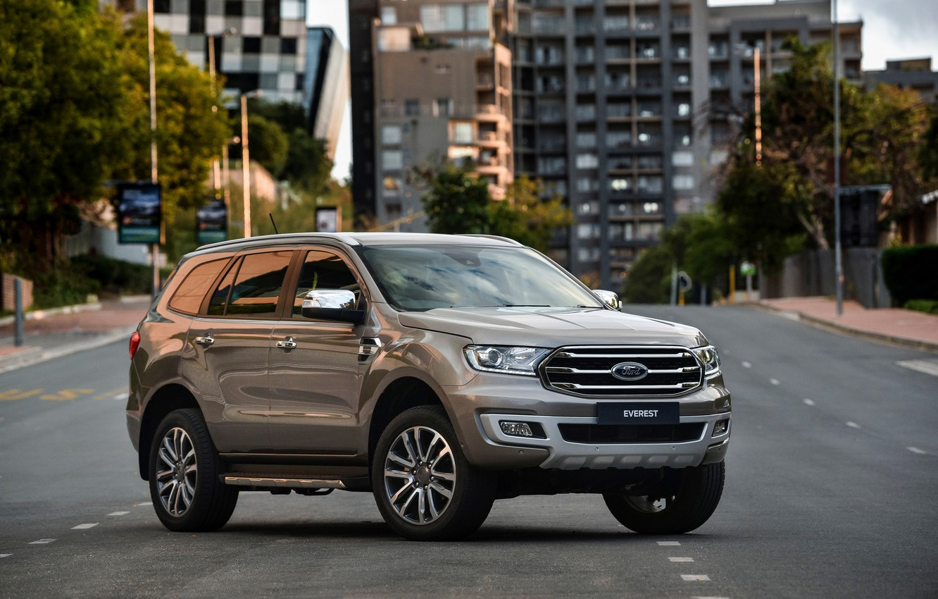 Photo wallpaper road, the city, street, Ford, Everest, Limited, 4WD, 2019