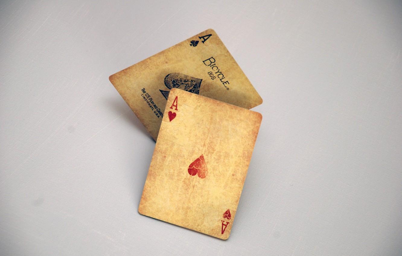 Photo wallpaper card, casino, 2 aces