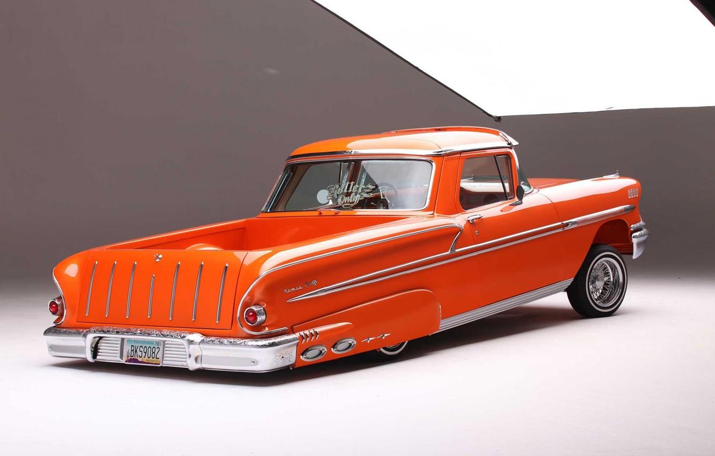 Photo wallpaper Chevrolet, Orange, The Way, Nomad