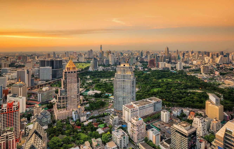 Photo wallpaper the sky, the city, building, Thailand, Bangkok
