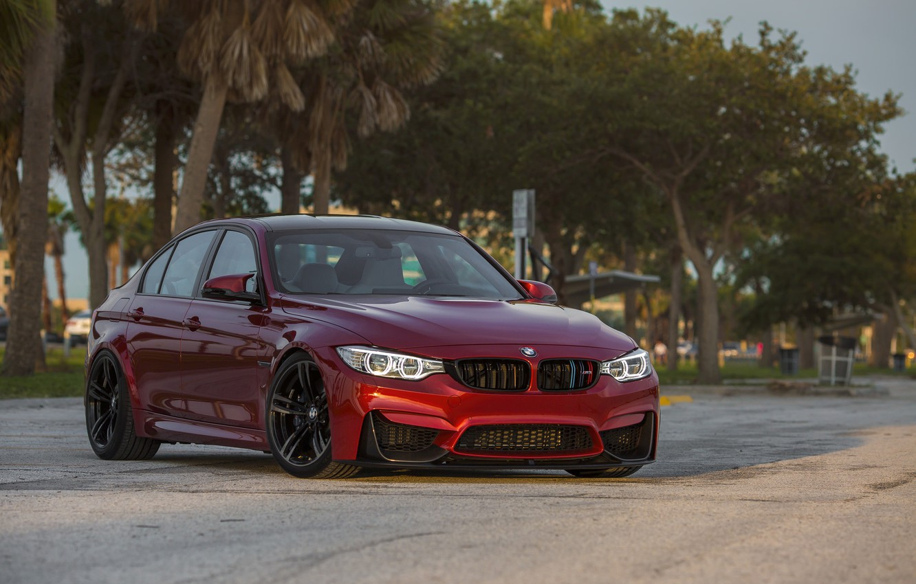 Photo wallpaper BMW, Evening, RED, Sight, F81