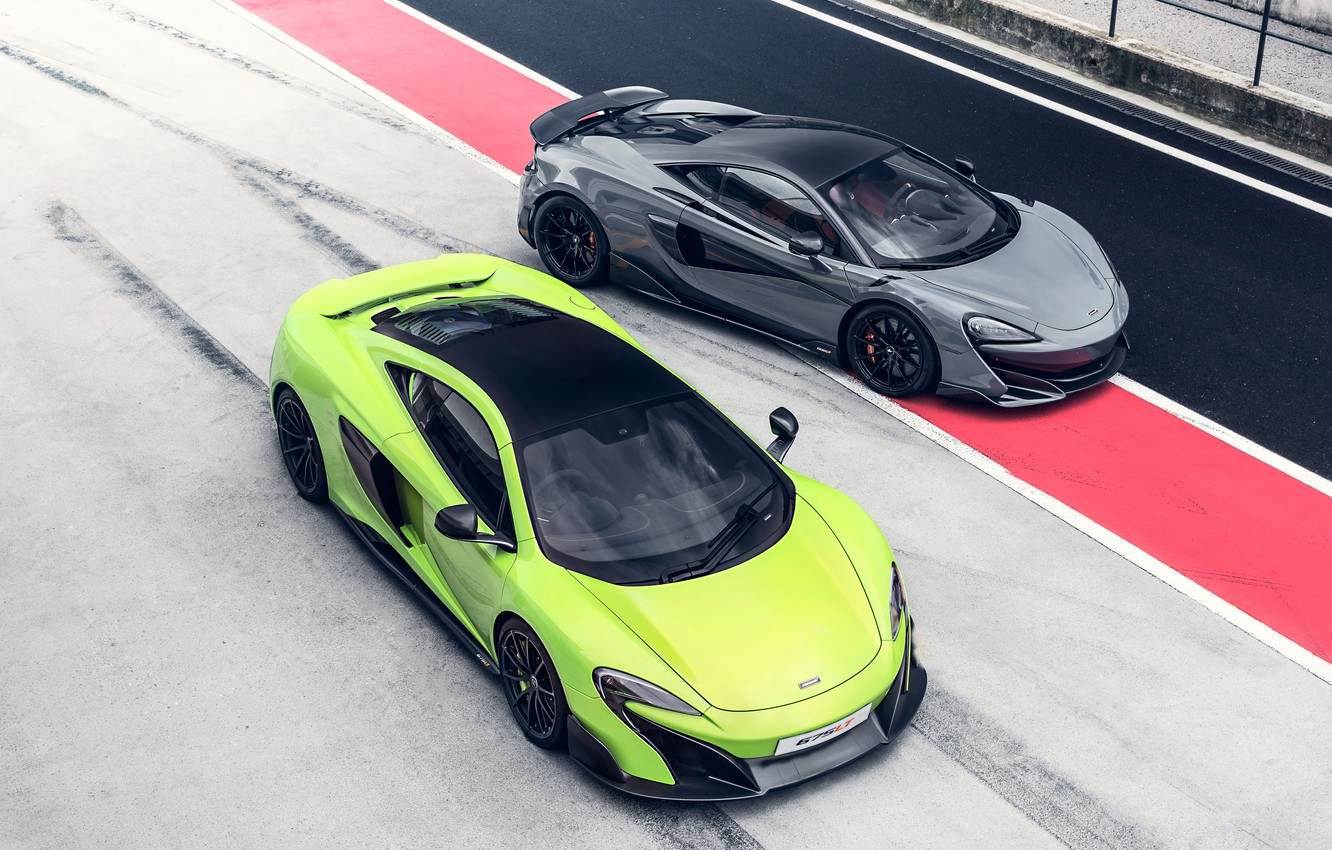 Photo wallpaper McLaren, supercars, 2018, 675LT, 600LT