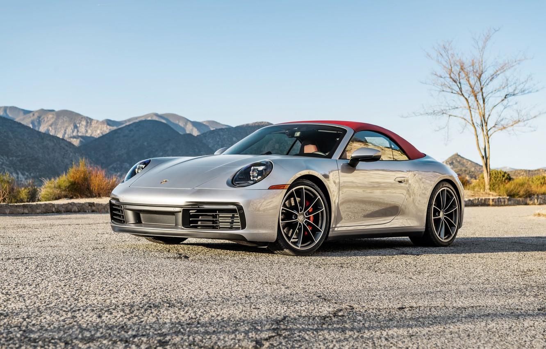 Photo wallpaper 911, Porsche, Carrera, Cabriolet, 2020, S