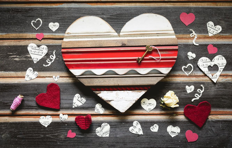Photo wallpaper holiday, heart, key