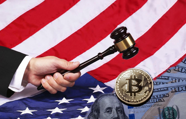 Photo wallpaper flag, hammer, America, america, flag, bitcoin, bitcoin, hammer