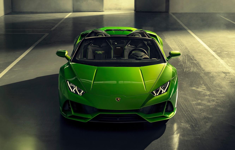 Photo wallpaper machine, Lamborghini, optics, sports car, Spyder, Evo, Huracan