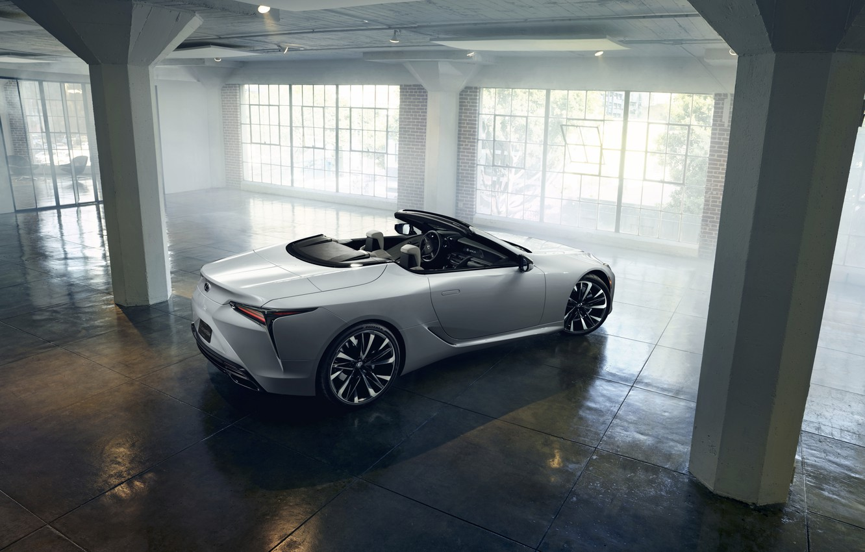 Photo wallpaper white, light, Lexus, convertible, 2019, LC Convertible Concept