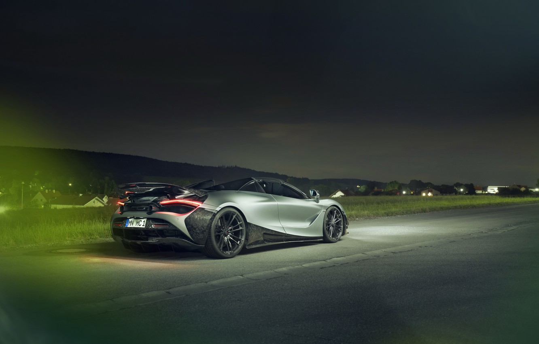 Photo wallpaper lights, McLaren, supercar, rear view, Spider, Novitec, 720S, 2019