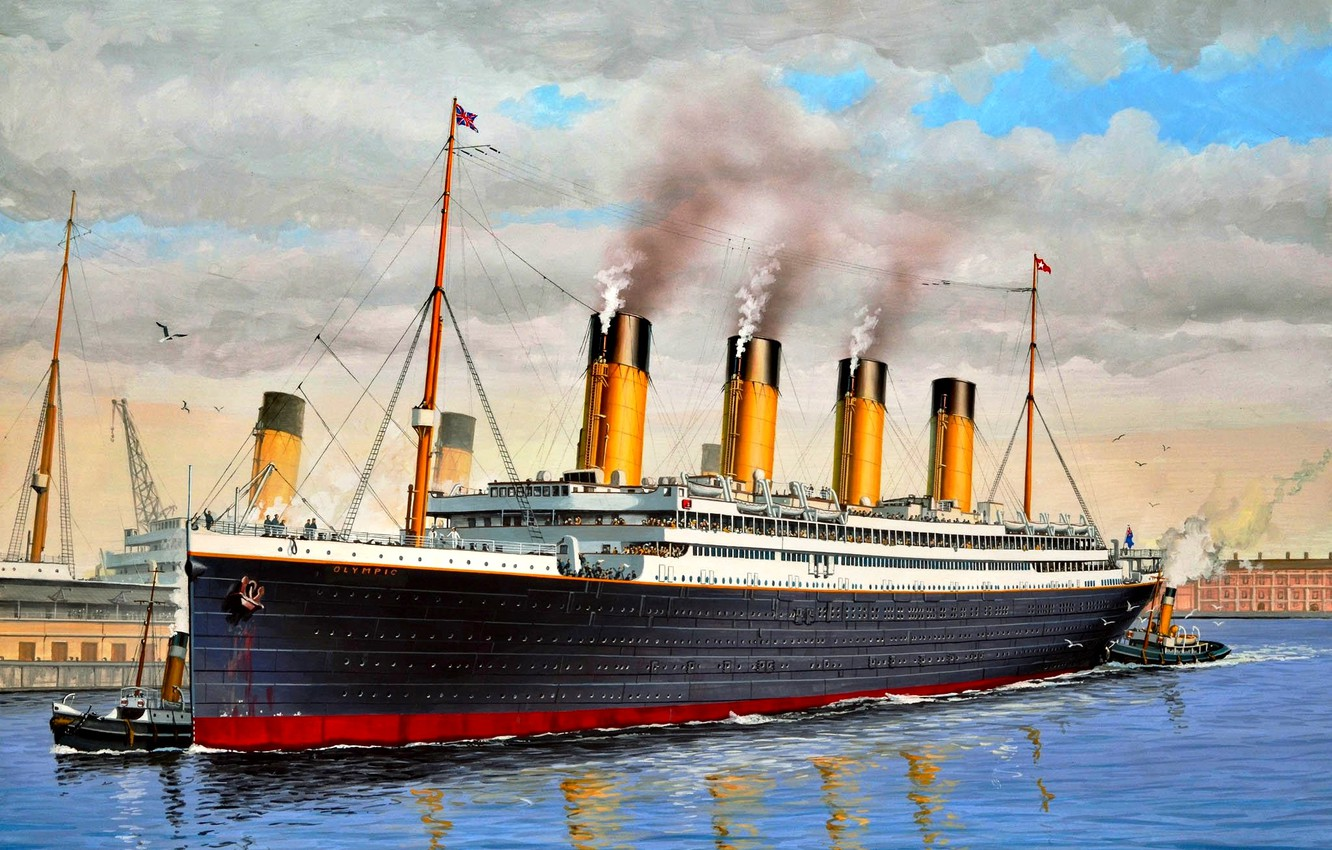 """Photo wallpaper UK, class """"Olympic"""", """"Olympic"""", The first of a series, three liners, Transatlantic liner"""