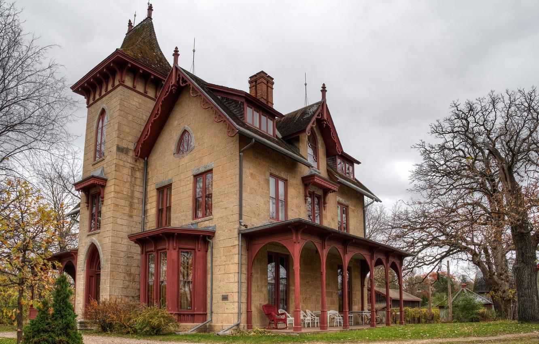 Photo wallpaper house, yard, mansion