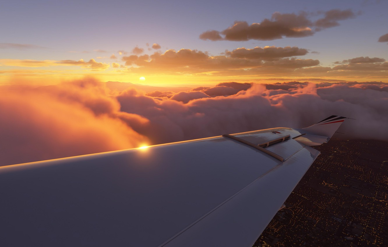 Photo wallpaper flying, planes, aviation, pilot, simulator, preview, gameplay, asobo studio, flight simulation, microsoft flight simulator, fs2020, …