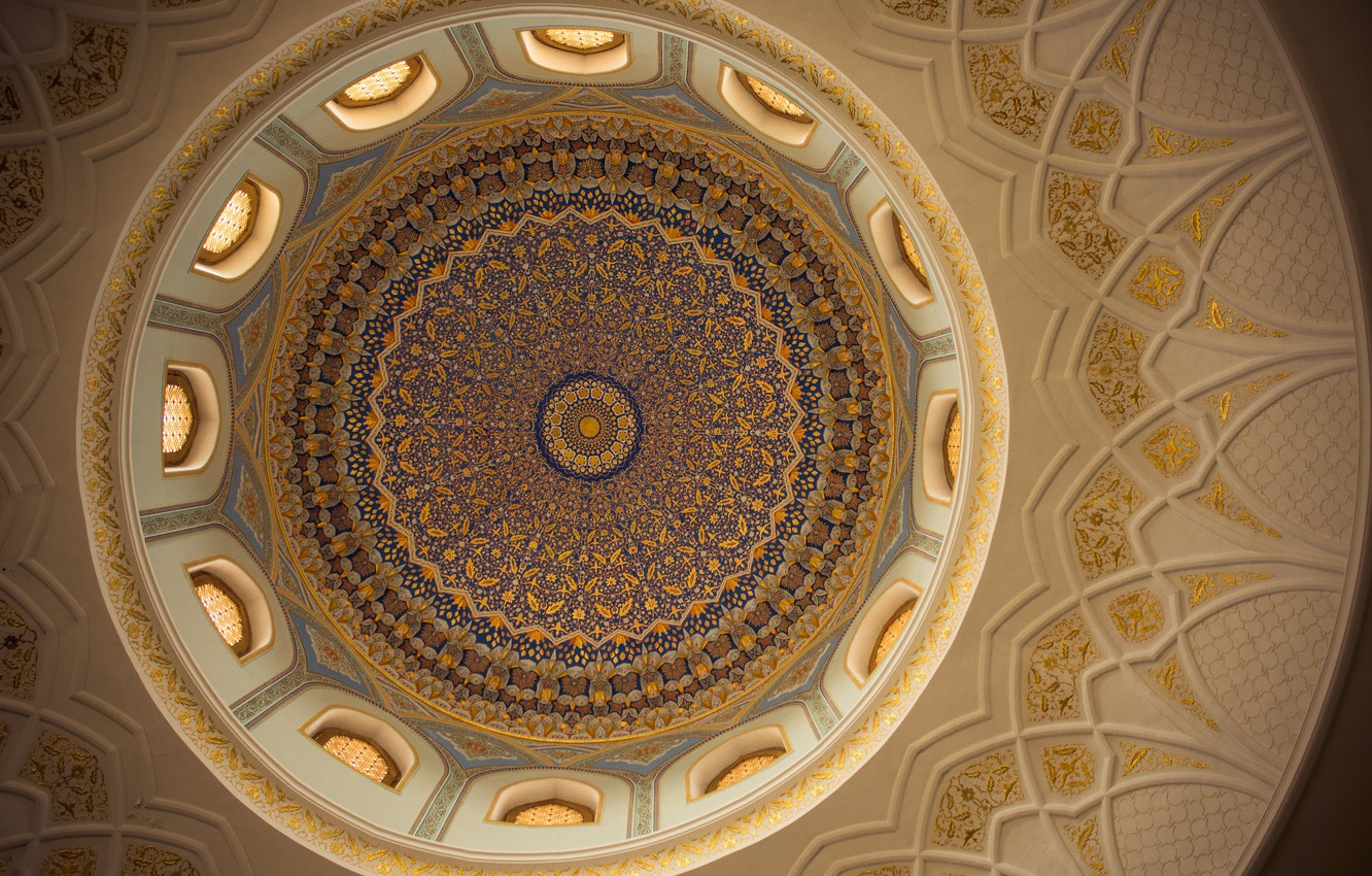 Photo wallpaper beautiful, pattern, east, architecture, mosque, uzbekistan, architectural detail, arch, tashkent, old city, architectural, cieling, national …