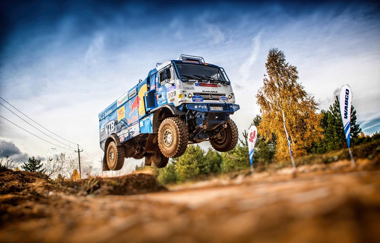 Photo wallpaper Machine, Speed, Truck, Race, Master, Russia, Kamaz, Rally, Dakar, KAMAZ-master, Rally, KAMAZ, The roads, Best, …