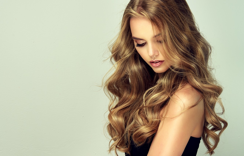 Photo wallpaper girl, pose, portrait, makeup, curls, Sofia Zhuravets'