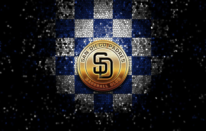 Wallpaper Wallpaper Sport Logo Baseball Glitter Checkered Mlb San Diego Padres Images For Desktop Section Sport Download