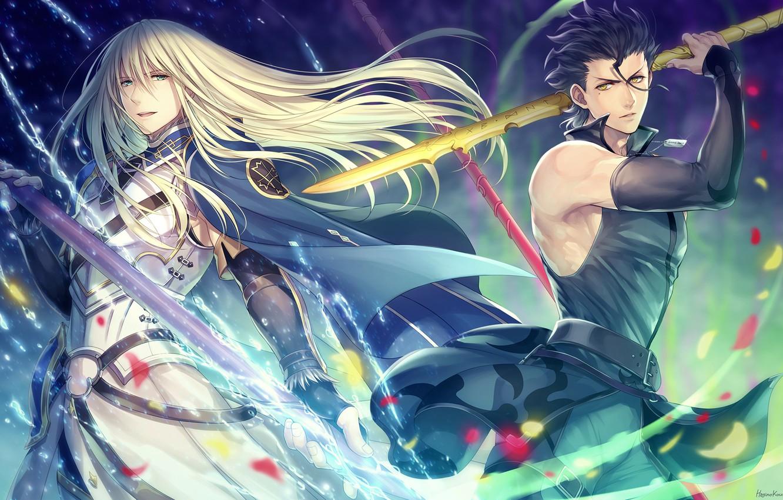 Wallpaper Guys Spears Lancer Fate Zero Fate Grand