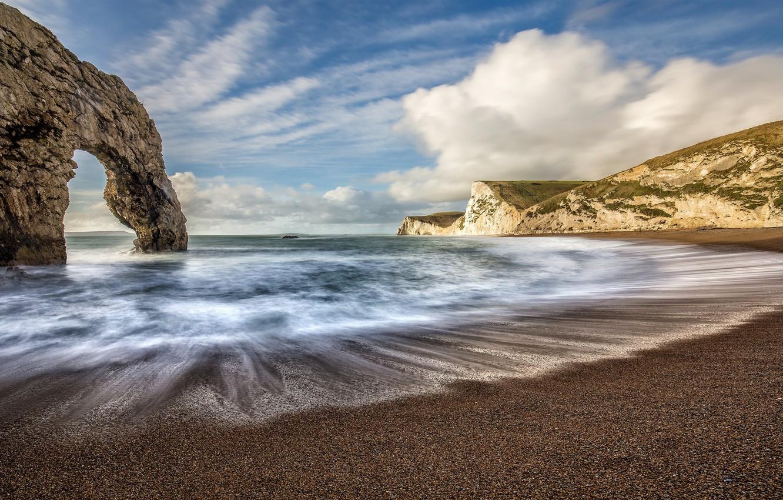 Photo wallpaper water, nature, coast