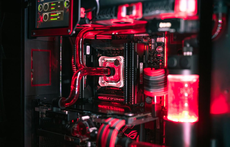 Photo wallpaper computer, macro, backlight, details