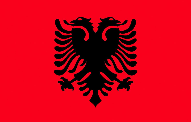 Wallpaper Flag Red Eagle Black Eagle Albania Fon Flag Albania Images For Desktop Section Tekstury Download