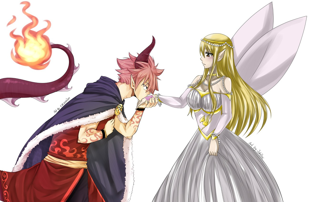 Wallpaper Dragon Fairy Art Pair Guy Two Fairy Tail