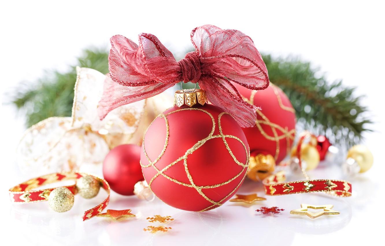 Photo wallpaper holiday, balls, toys, Christmas, New year, bow