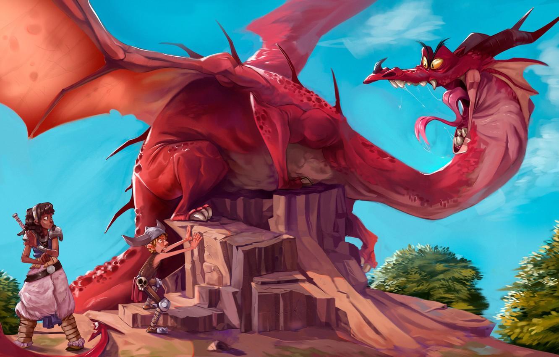 Photo wallpaper Fantasy, Dragon, Illustration, by Alex Mamedes, Alex Mamedes, Dragon Brazil, Dragon Brazil