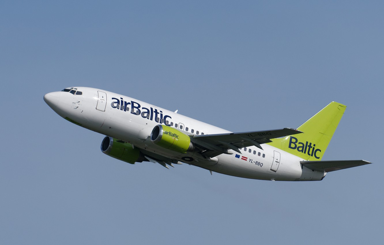 Photo wallpaper Boeing, Air Baltic, 737-53S