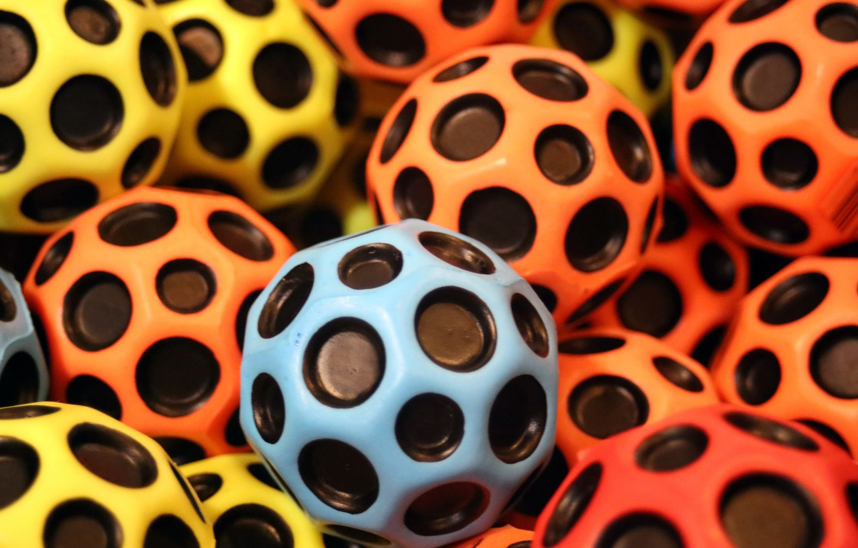 Photo wallpaper macro, balls, a lot