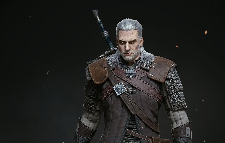 Photo wallpaper the witcher, the Witcher, character, Geralt, Geralt of Rivia, Geralt From Rivia, monster hunter