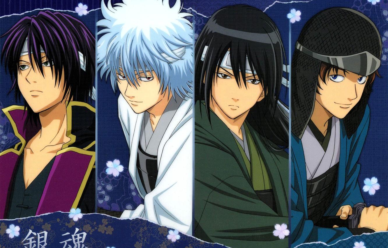 Photo wallpaper armor, guys, samurai, Gintama, Sakata Gintoki, Takasugi Shinsuke, Katsura Kotaro, Gintama, Гинтоки You Want, Sakamoto …
