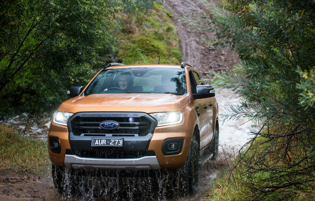 Wallpaper Ford Water Mountains River Forest Dirt Jeep Pickup