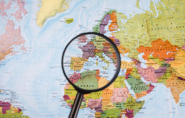 Image of: Wallpaper Europe France Map Spain Magnifying Glass Images For Desktop Section Tekstury Download