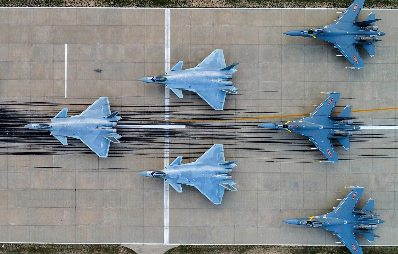Wallpaper Fighter, WFP, J-20, Chengdu J-20, AIR FORCE CHINA, Shenyang J-16 images for desktop, section авиация - download