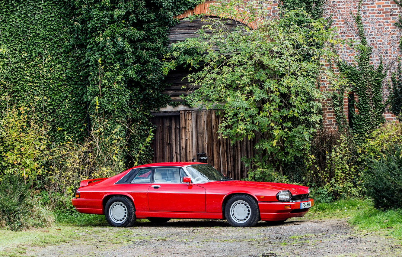 Photo wallpaper Red, Sports car, Classic car, Jaguar XJR-S
