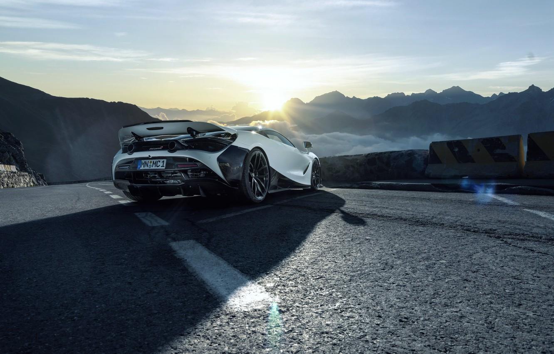 Photo wallpaper sunset, dawn, McLaren, supercar, 2018, Novitec, 720S