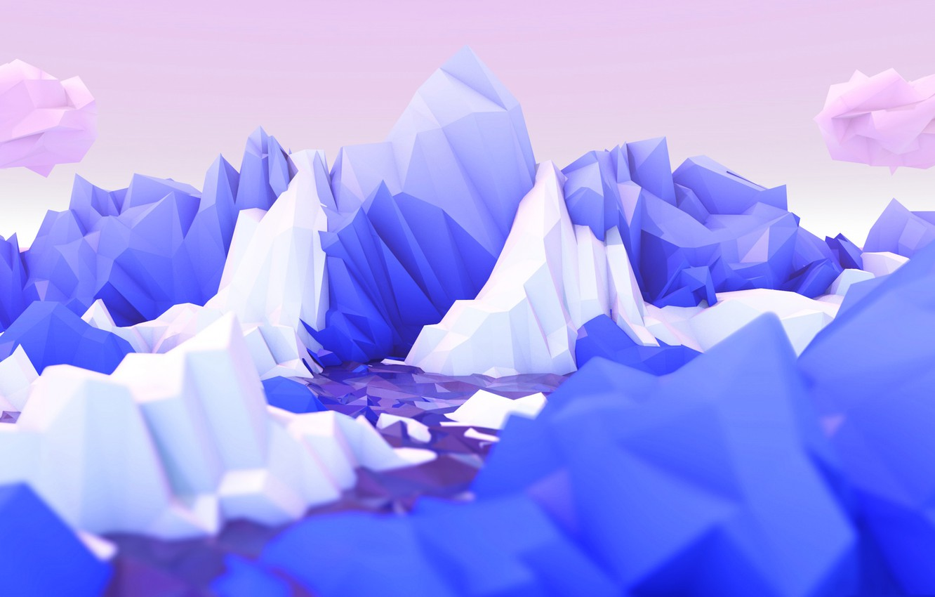 Wallpaper Rocks Ice Low Poly Images For Desktop Section