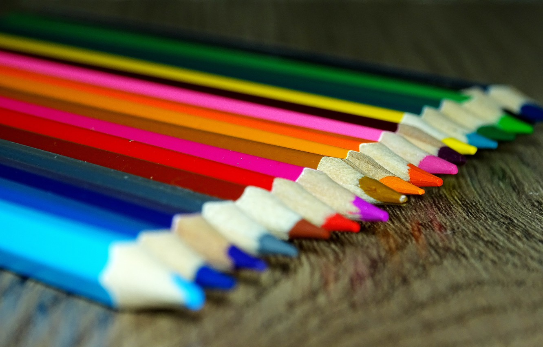 Photo wallpaper color, macro, pencils