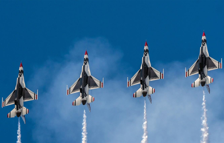 Photo wallpaper USA, BBC, squadron, 'The Thunderbirds'