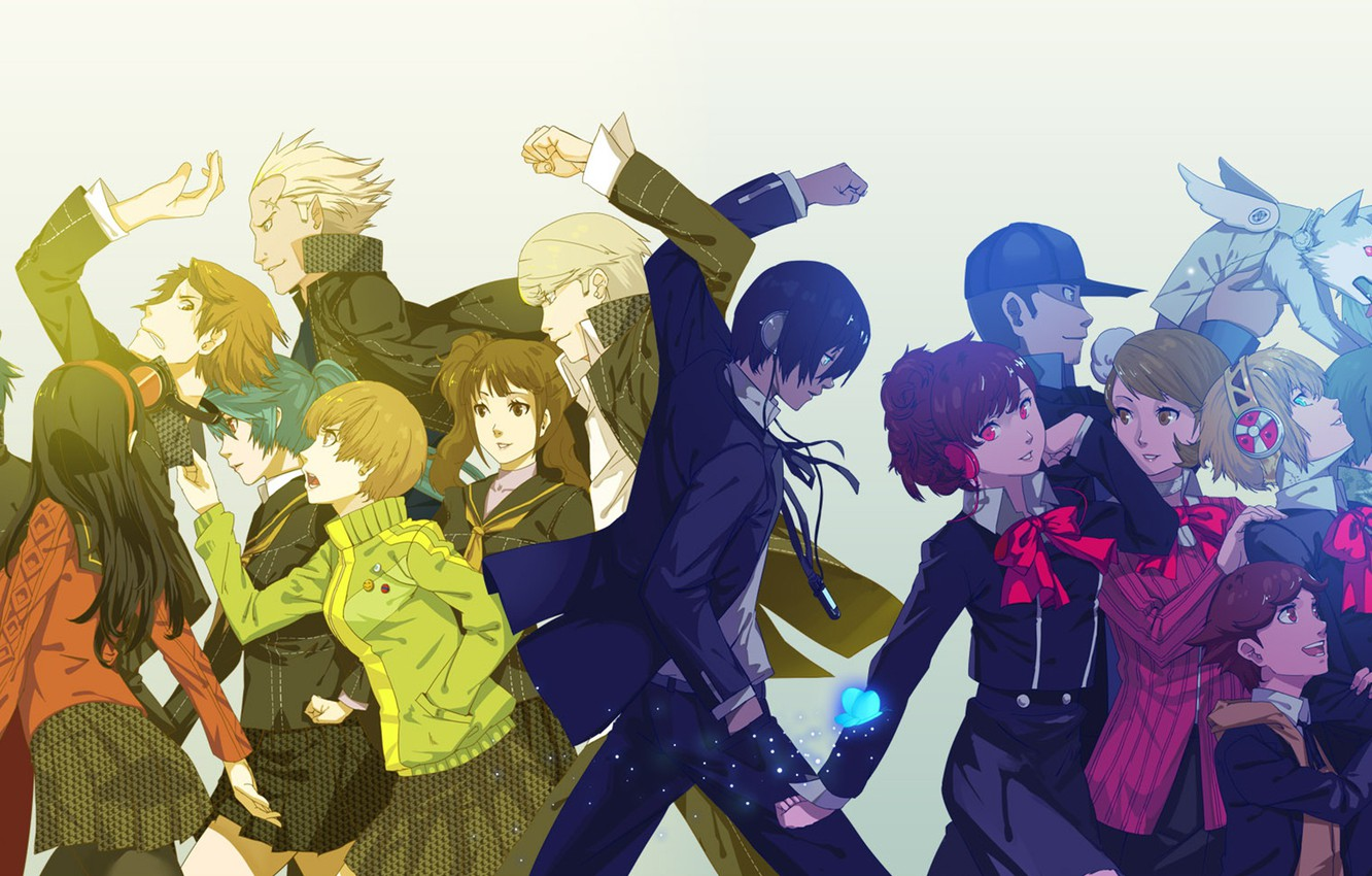 Photo wallpaper girls, the game, anime, art, guys, characters, Persona 4, Person 4