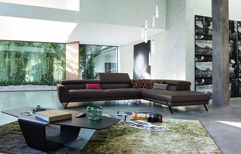 Photo wallpaper Villa, interior, living room, Roche Bobois