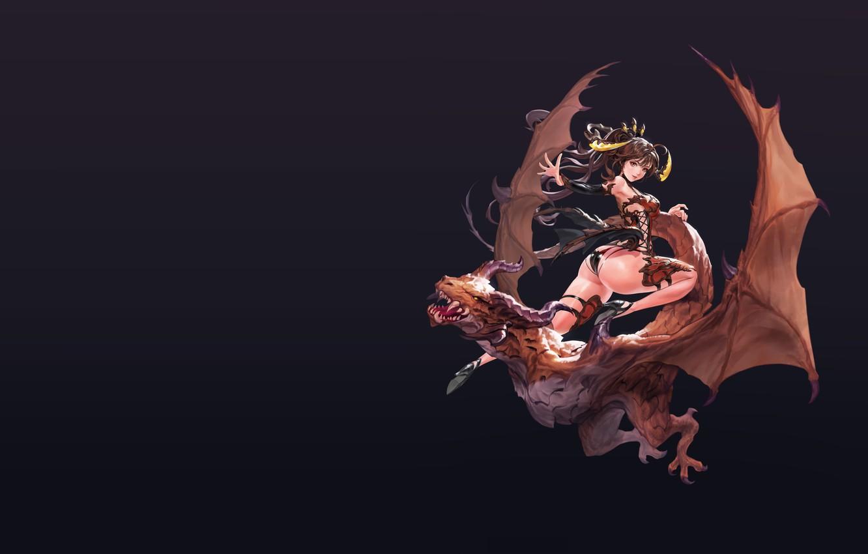 Photo wallpaper dragon, rider, fantasy, art, old work, hyunjoong .