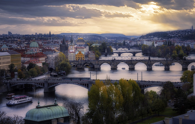 Photo wallpaper the city, Prague, Czech Republic