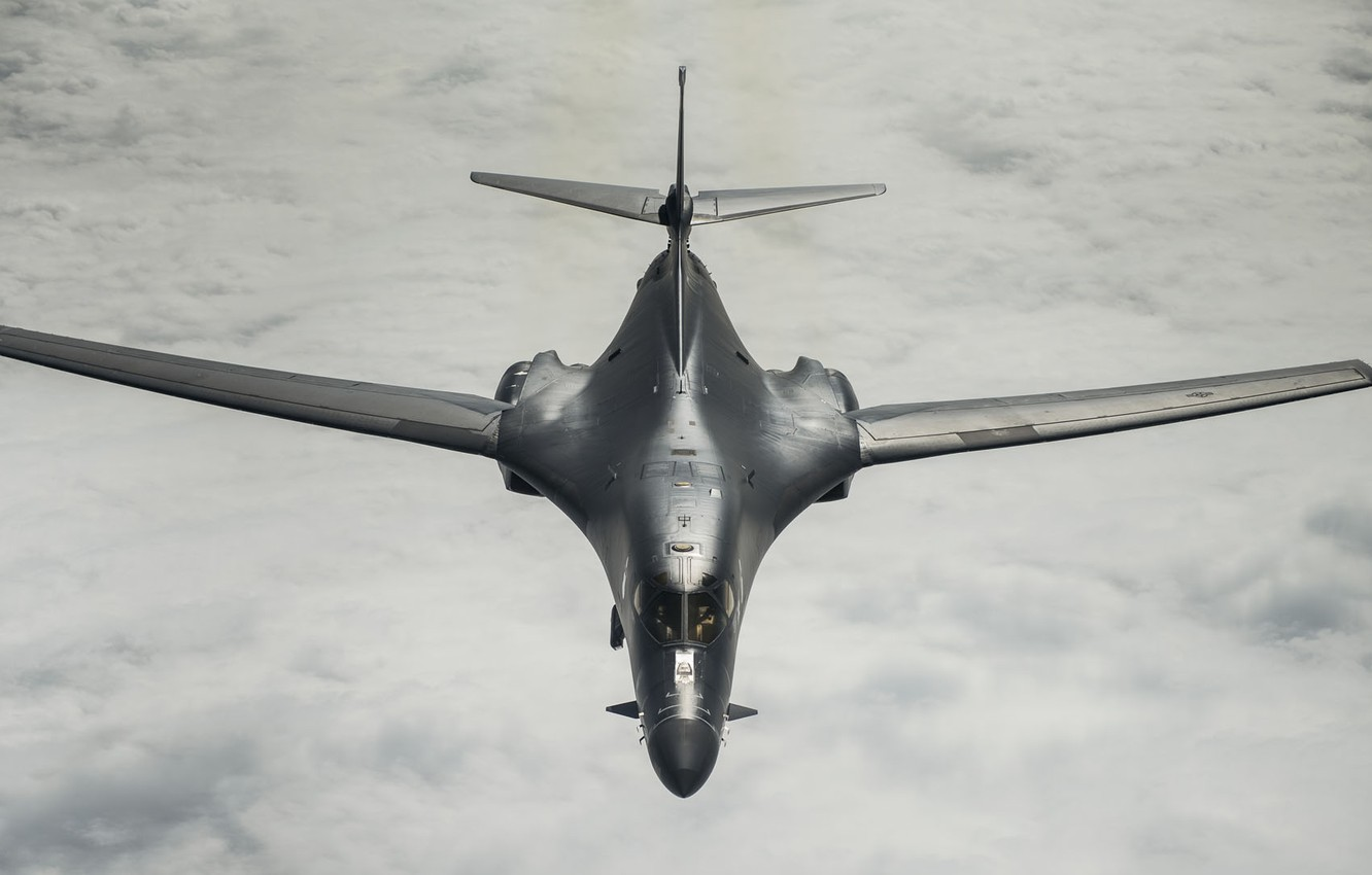 Photo wallpaper UNITED STATES AIR FORCE, strategic bomber, Rockwell B-1 Lancer, with variable sweep wing, supersonic