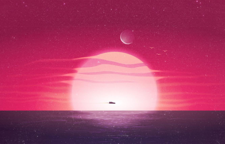 Wallpaper Sunset The Sun The Ocean Sea Music Machine