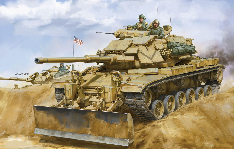 Photo wallpaper tank, USA, jason, US Army, main battle tank, MBT, M60 Patton, MBT, M60A1 w/ERA & …