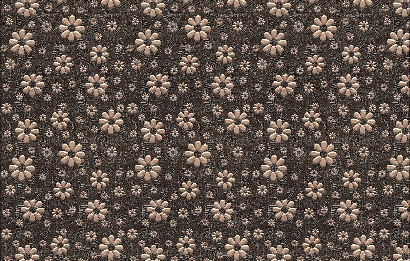 Photo wallpaper flowers, background, texture, brown, design, art, pattern, floral, backgroun