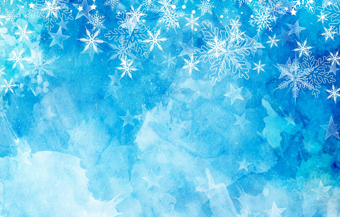 winter, snow, snowflakes, background