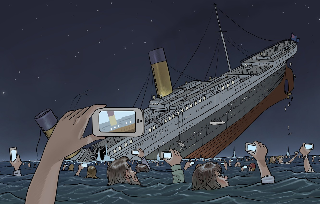 Photo wallpaper The ocean, Figure, Shooting, The crash, People, Titanic, The ship, Titanic, RMS Titanic, Cruise liner, ...