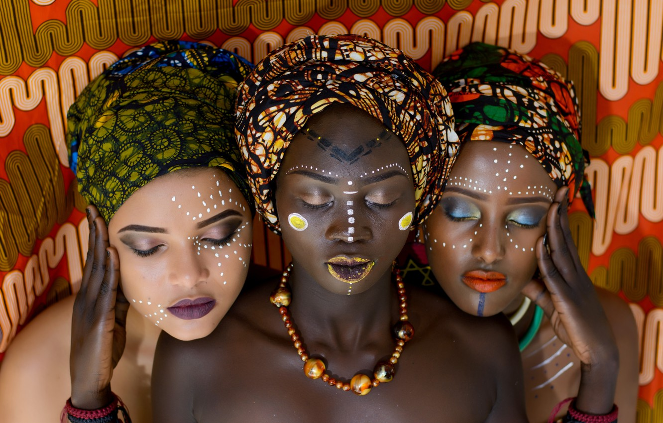 Photo wallpaper girl, girls, Style, Africa, Africans